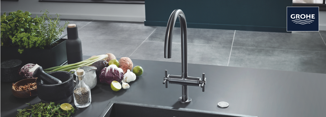 2-Handle Kitchen Taps from GROHE at xTWO